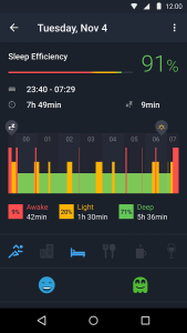 sleep runtastic